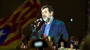 Jordi Sànchez, en un vídeo, en el mitin del acto central de campaña de JxCat.