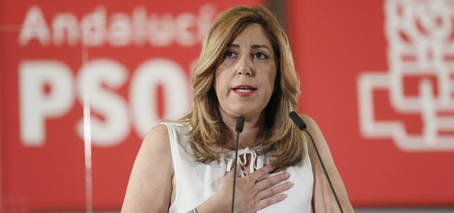 Susana Díaz apunta ya líneas rojas a Sánchez:La Constitución sigue plenamente vigente