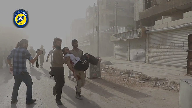Alepo, al l�mite por la ofensiva de Asad.