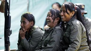 Guerrilleras de las FARC, el pasado 11 de agosto en el campamento de Putumayo, Colombia.