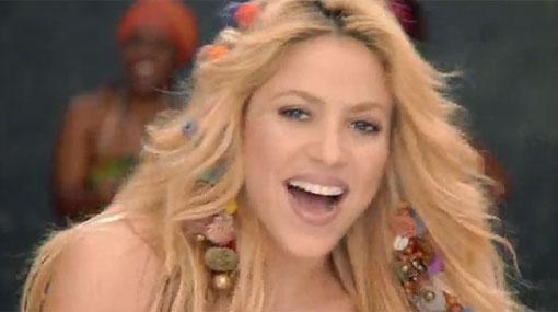 Canci�n oficial de la Copa del Mundo de f�tbol, 'Waka waka', cantada por Shakira.