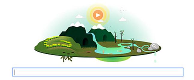 Google dedica un 'doodle' interactivo al D�a de la Tierra