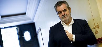 Ferm�n Bocos, periodista y estudioso del m�s all�, en Madrid, el pasado jueves
