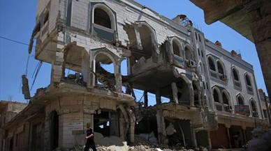 Al menos 150 civiles muertos por bombardeos rusos en Siria