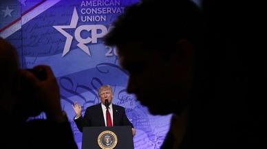 El presidente de EEUU, Donald Trump, en una conferencia de su partido el pasado viernes 24 de febrero.