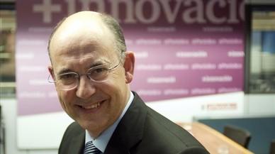 Xavier Queralt, en una entrevista en la sede de El Peri�dico de Catalunya.