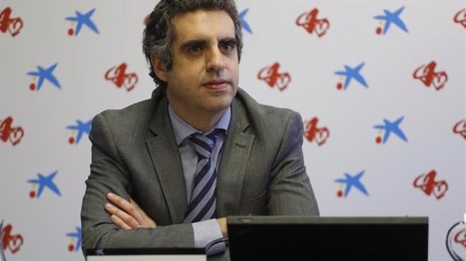 Manuel Esteller, durante la presentaci�n del an�lisis epigen�tico en el Palau Macaya de Barcelona, dela Fundaci� La Caixa.