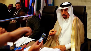El ministro saudi de Energía, Al-Falih, en la reunión de la OPEP en Viena.