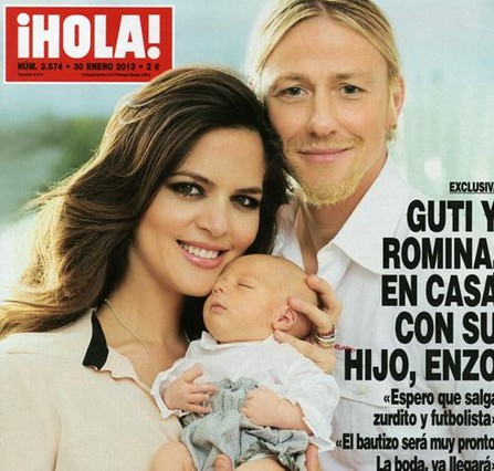 Guti y Romina Belluscio presentan a su hijo en �Hola!