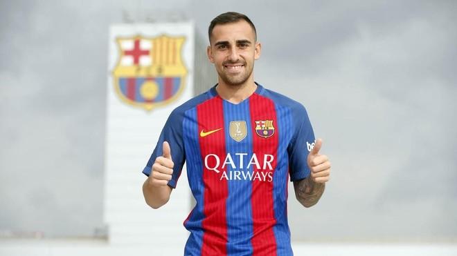 Paco Alc�cer, el nuevo delantero del Bar�a.