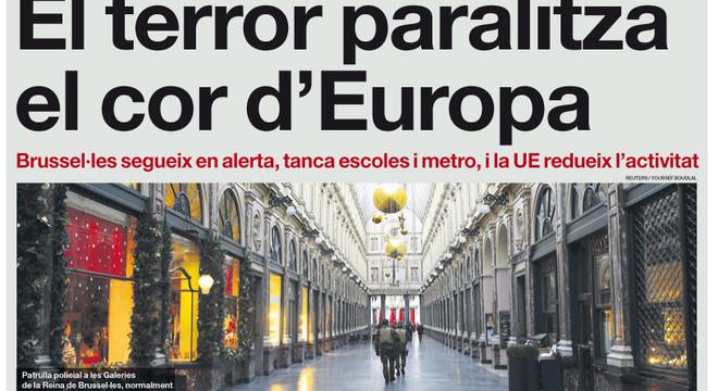 'El terror paralitza el cor d'Europa', a la portada d'EL PERIÓDICO DE CATALUNYA