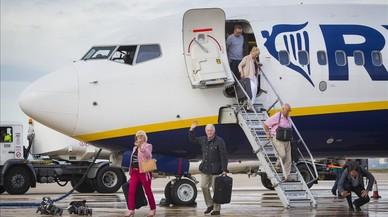 Primer vuelo regular de Ryanair a Castellón, en septiembre del 2015.