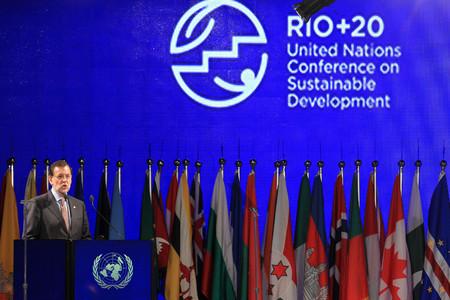 Mariano Rajoy, en la tribuna de oradores de la cumbre Río+20, el miércoles, en Río de Janeiro.