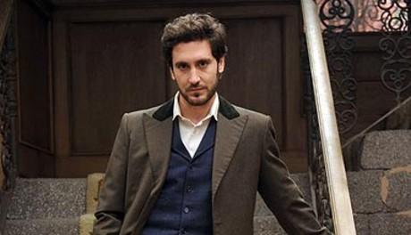 El actor, en el papel de Tristán en la serie diaria de Antena 3 TV.