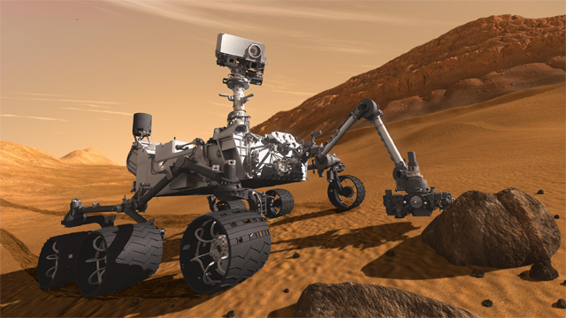 Simulacin del aterrizaje del 'Curiosity'