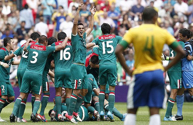México arrebata <BR>el oro a Brasil