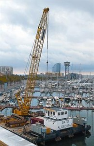 Puerto deportivo del muelle de la Barceloneta, en septiembre, que se convertir en una marina de megayates.