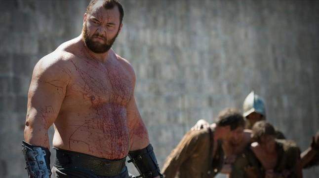 Hafthor Bjornsson, alias La Montaña, en una imagen de Juego de tronos.