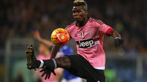 Pogba, en un partido entre el Juventus y el Sampdoira