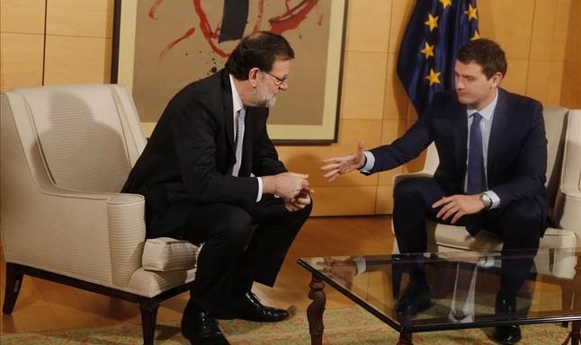Reunión entre Mariano Rajoy y Albert Rivera en el Congreso