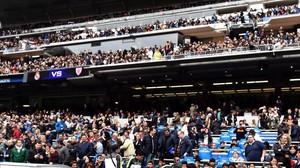 Imagen del Bernabéu, el pasado sábado en el Madird-Ahletic