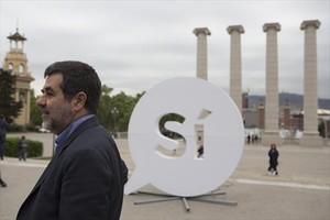 Jordi Sànchez, el pasado miércoles 19, al presentar la nueva campaña de la ANC.