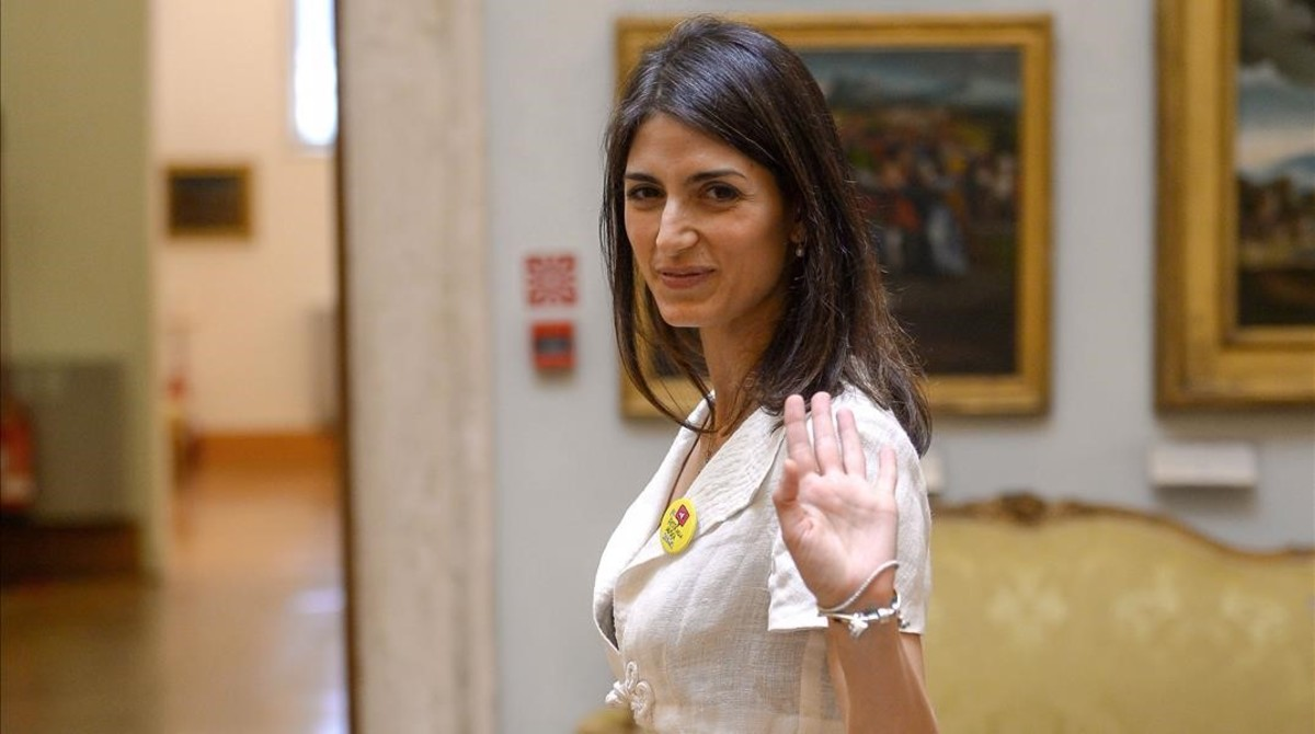 la alcaldesa de roma virginia raggi