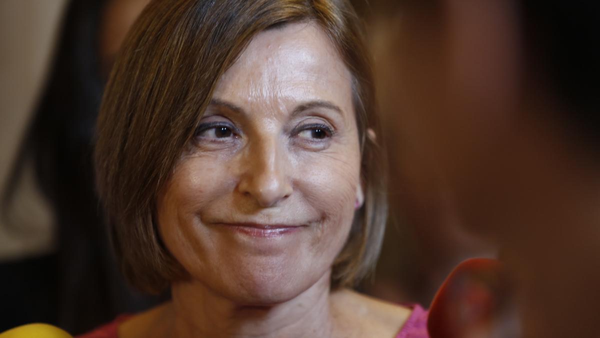 Forcadell anuncia que el Parlament ajorna la tramitació de la llei del referèndum