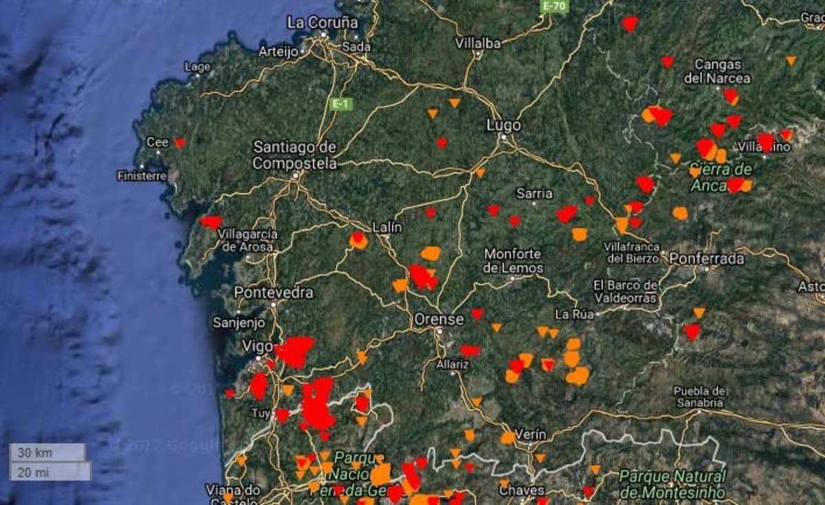 Mapa Incendios Galicia 2017.Incendios En Galicia Ultima Hora En Directo