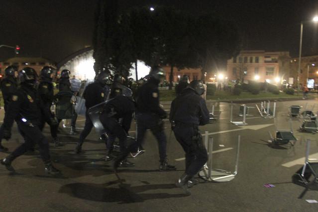 Unos 40 detenidos en Madrid tras la marea ciudadana