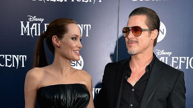 Cop de puny a Brad Pitt en la 'premier' de 'Malefica'