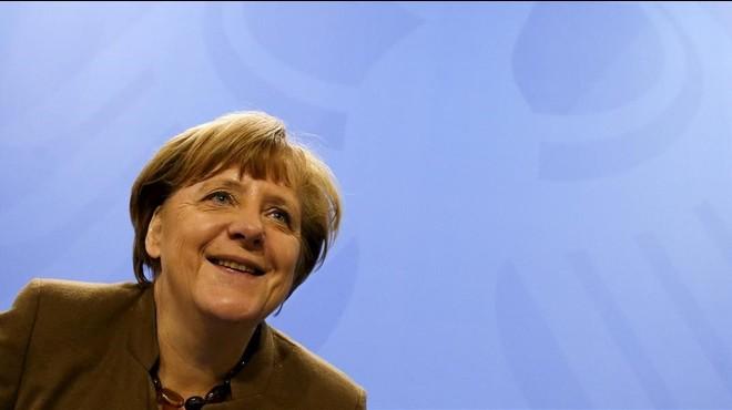 Comparecencia de la cancellera Angela Merkel en Berl�n.
