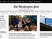 """""""La democracia muere en la oscuridad"""", el nuevo eslogan del 'Washington Post' en su versión en línea."""