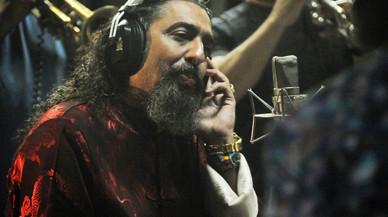 Diego el Cigala durante una de las grabaciones de 'Indestructible'.