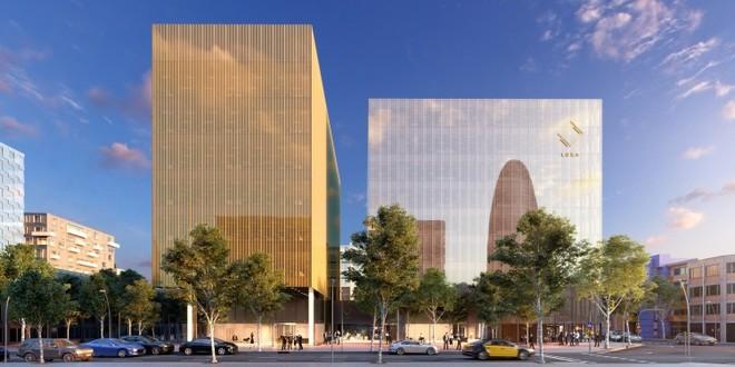El edificio Luxa Silver (a la derecha).