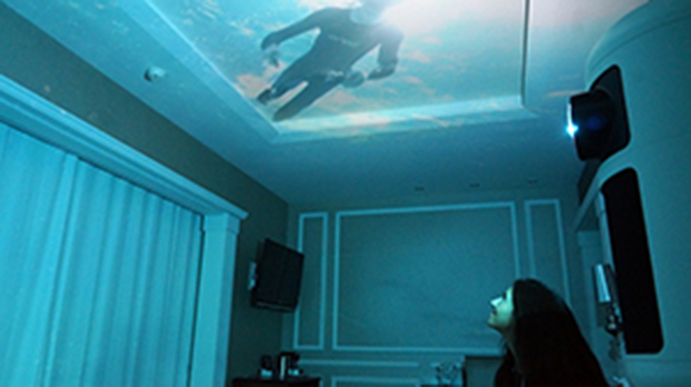 Habitación con experiencias inmersivas en 4D en el hotel Catalonia Passeig de Gràcia