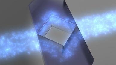 Recreación del funcionamiento de la capa de invisibilidad ideada por investigadores de la UPNA y la UPN.