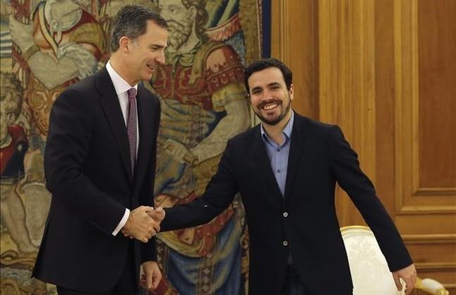 """Garzón, al Rey: """"Seguimos insistiendo en un Gobierno de izquierdas"""""""