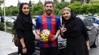 El 'hermano gemelo' de Messi colecciona fans en Irán