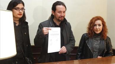 Pablo Iglesias registra la PNL para eliminar el enaltecimiento como figura delictiva, en el Congreso.