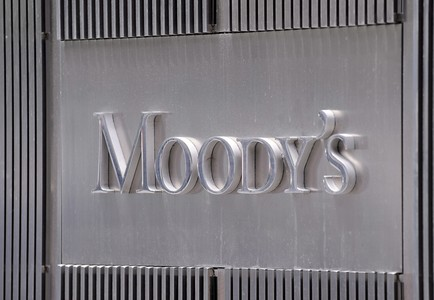 Logo de la agencia Moody's en su sede en Nueva York. 