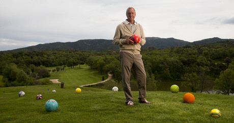 Johan Cruyff, en el club de golf Montany.