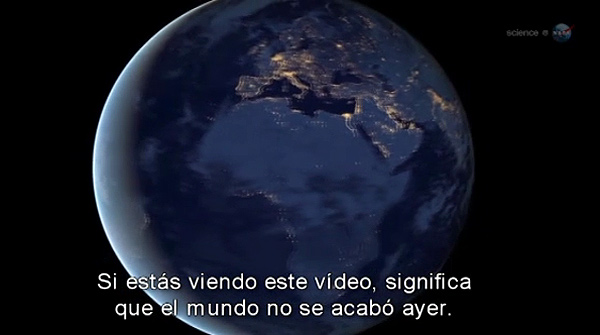 El vdeo de la NASA 'Por qu el mundo no se acab ayer?'