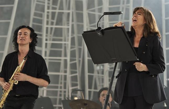 Maria del Mar Bonet, en el Concert per la Llibertat