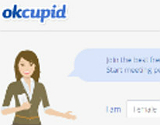 Captura del portal de OkCupid.