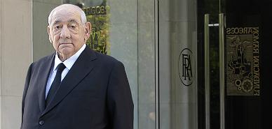 El presidente de El Corte Ingl�s, Isidoro �lvarez, este ma�ana.