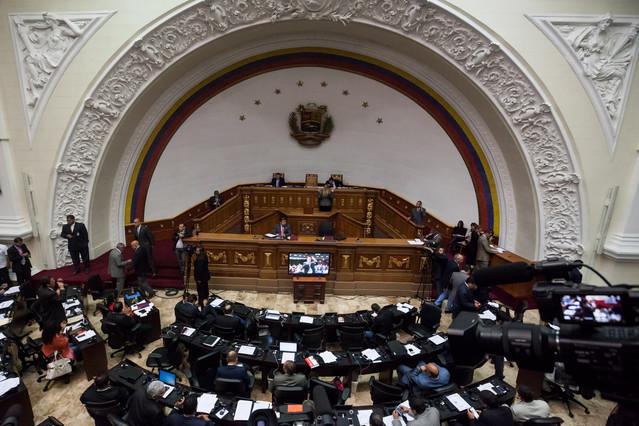 El hemiciclo de la Asamblea Nacional de Venezuela en la sesión que rechazó el decreto de emergencia económica propuesto por el presidente Nicolás Maduro