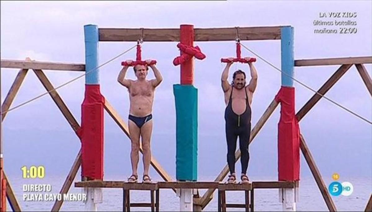 Bigote Arrocet i Juan Miguel en una prova de Supervivientes (T-5).