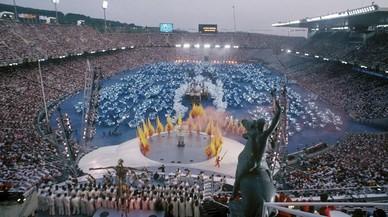 Ceremonia inaugural de los Juegos Olímpicos 1992 en el Estadi Lluis Companys.