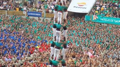 Els Castellers de Sabadell durant la seva actuaci� al Concurs de Tarragona.